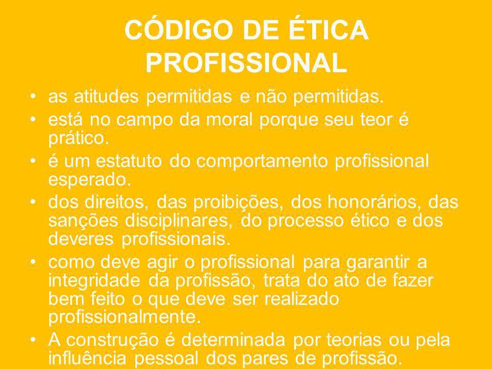 CÓDIGO DE ÉTICA PROFISSIONAL