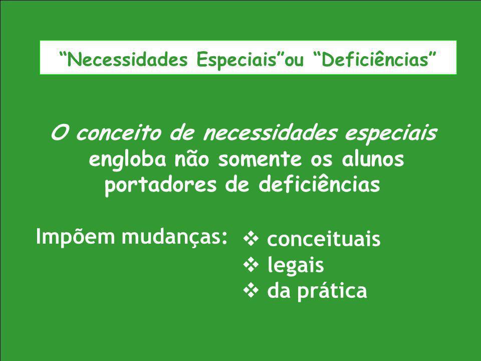 Necessidades Especiais ou Deficiências