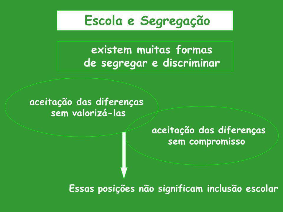 Escola e Segregação existem muitas formas de segregar e discriminar