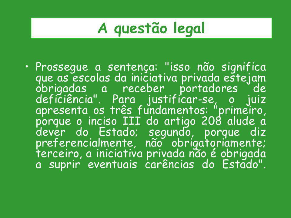 A questão legal