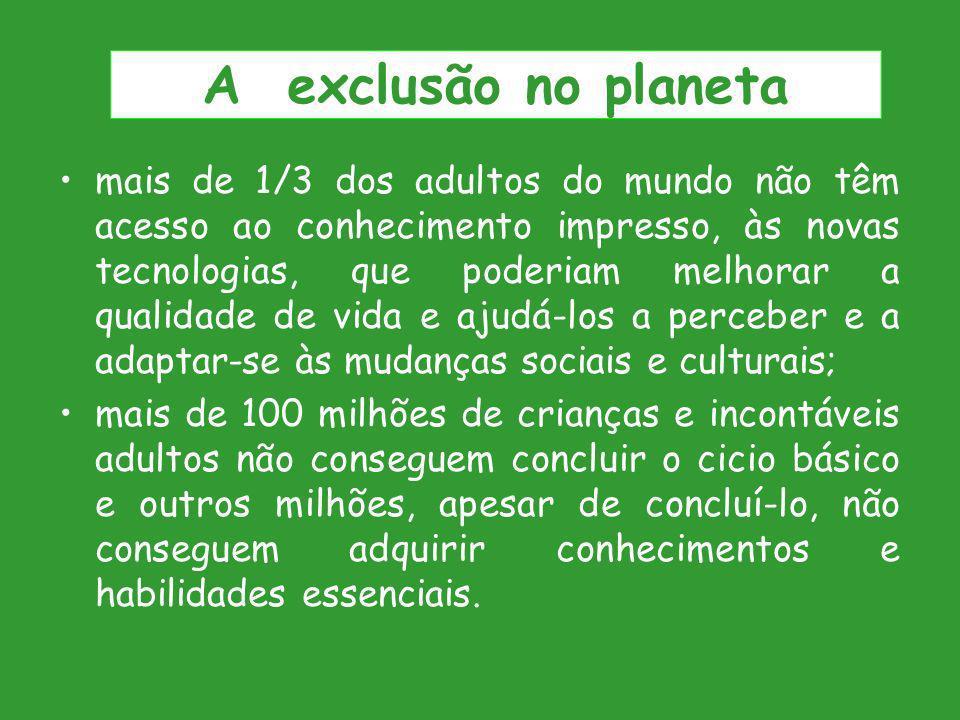 A exclusão no planeta