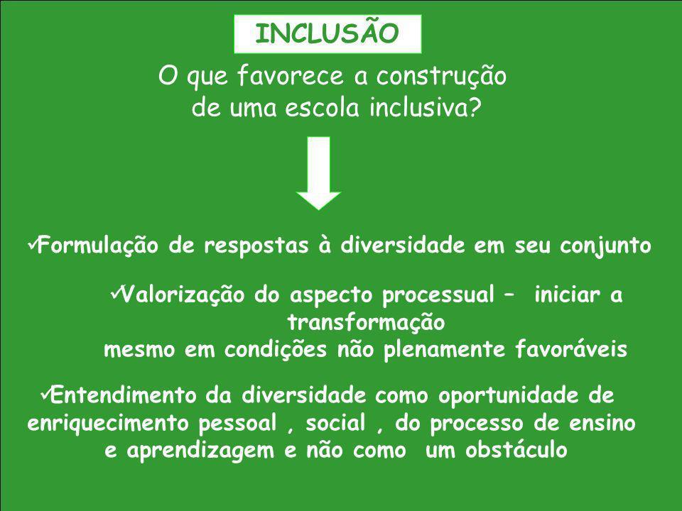 O que favorece a construção de uma escola inclusiva