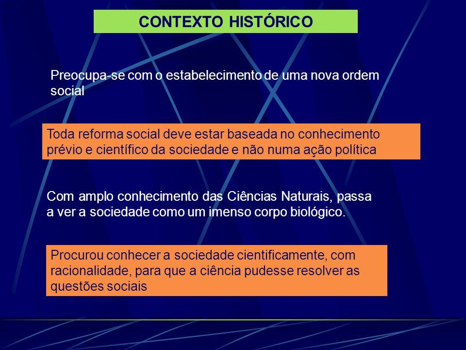 CONTEXTO HISTÓRICOPreocupa-se com o estabelecimento de uma nova ordem social.