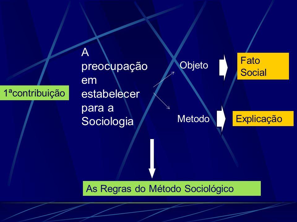 A preocupação em estabelecer para a Sociologia