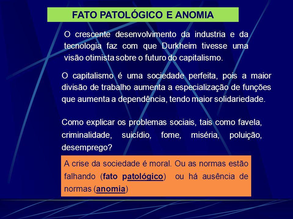 FATO PATOLÓGICO E ANOMIA