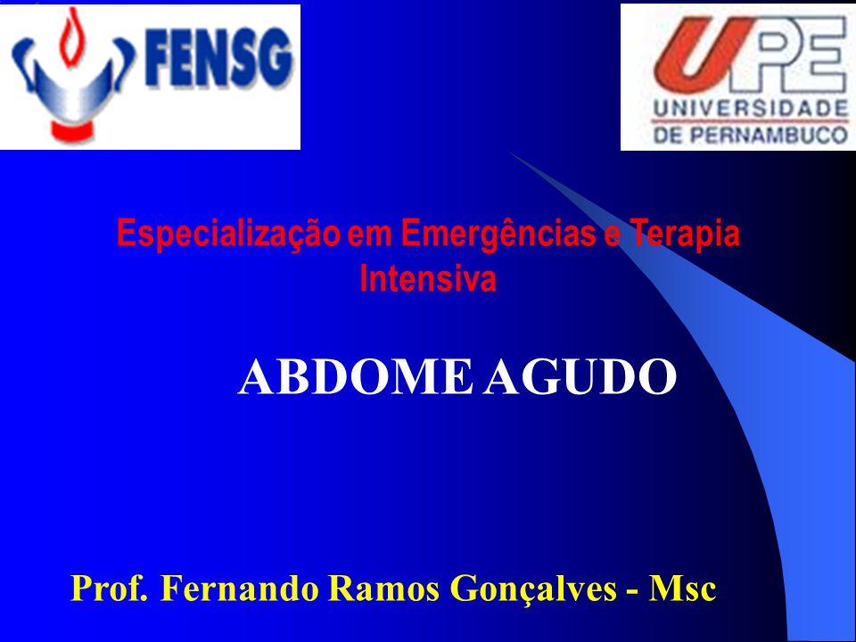 Especialização em Emergências e Terapia Intensiva