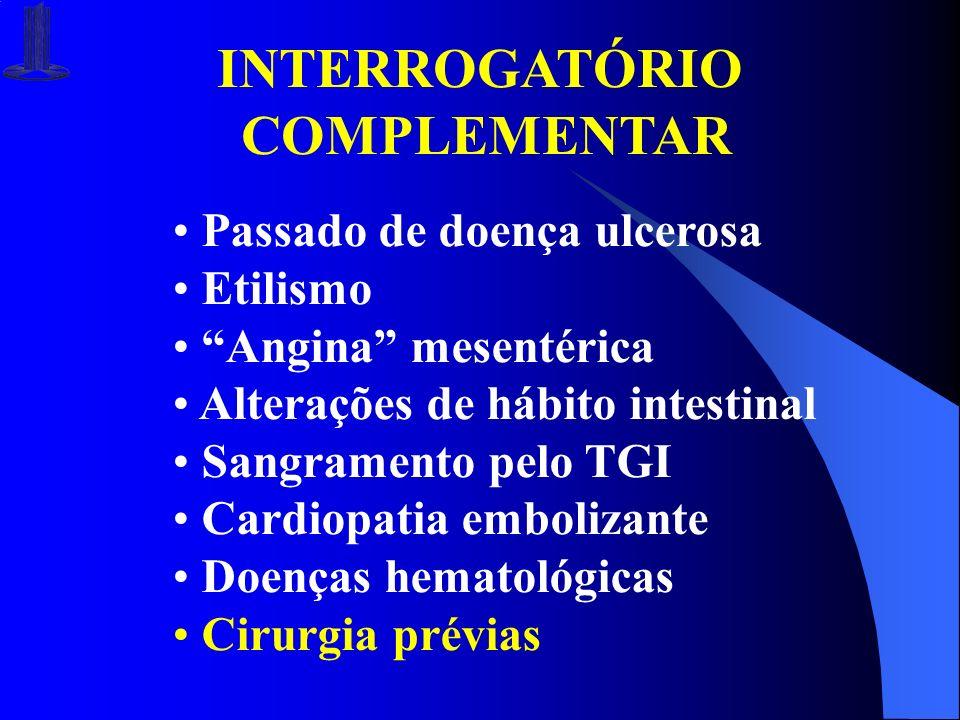 INTERROGATÓRIO COMPLEMENTAR