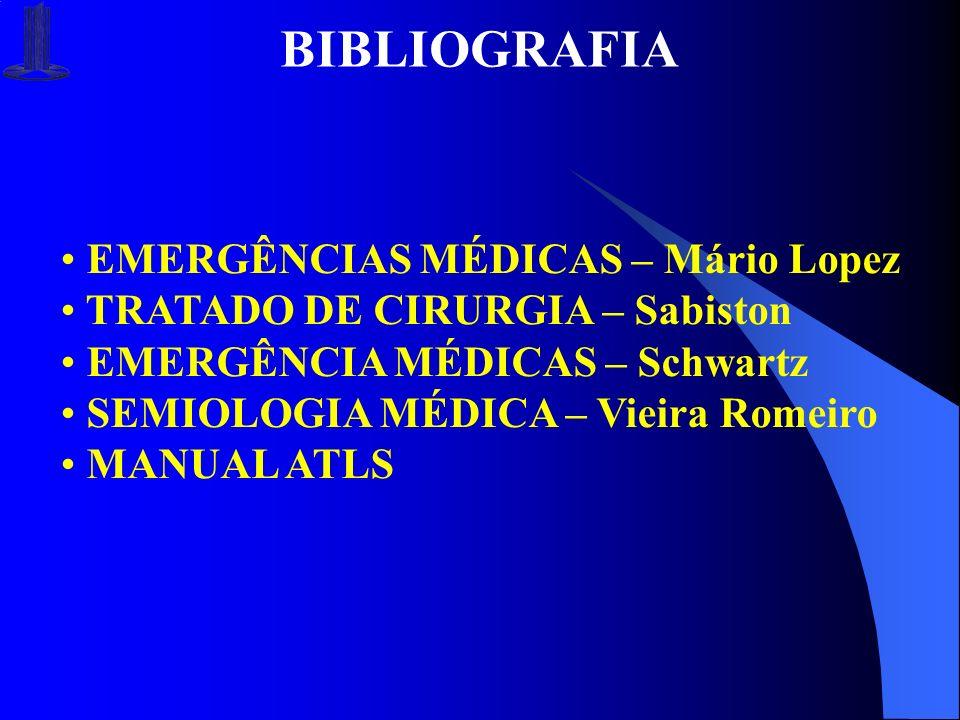 BIBLIOGRAFIA EMERGÊNCIAS MÉDICAS – Mário Lopez