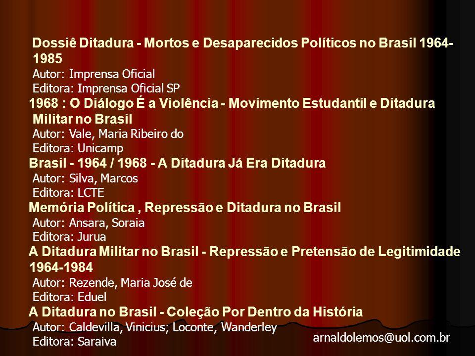 1985 Autor: Imprensa Oficial Editora: Imprensa Oficial SP