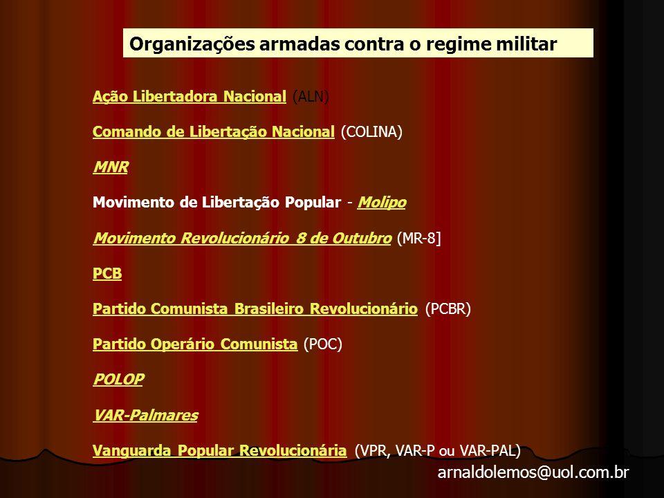 Organizações armadas contra o regime militar