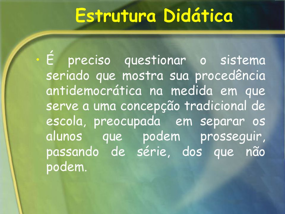 Estrutura Didática