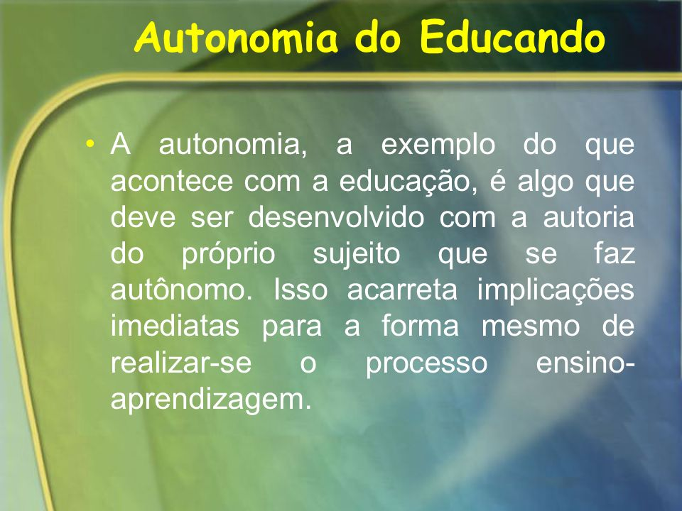 Autonomia do Educando