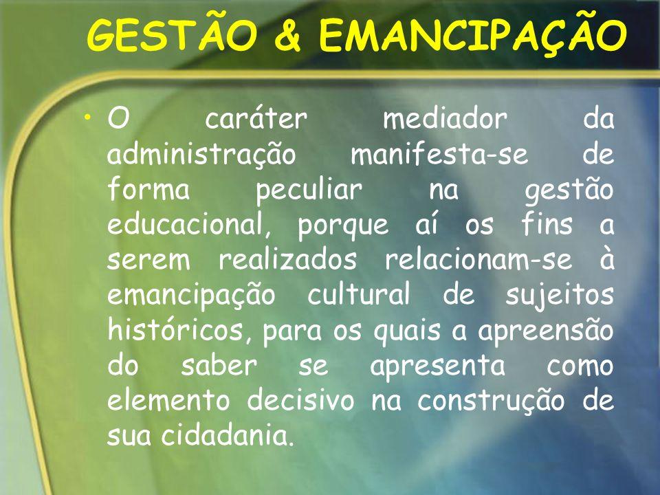 GESTÃO & EMANCIPAÇÃO
