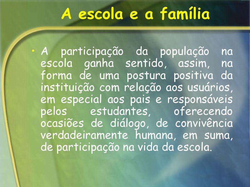 A escola e a família