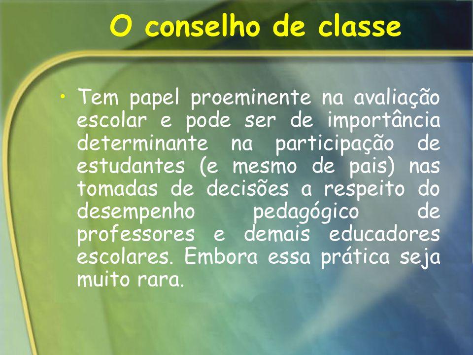 O conselho de classe