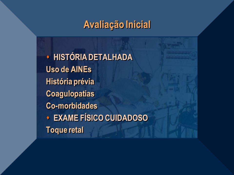 Avaliação Inicial HISTÓRIA DETALHADA Uso de AINEs História prévia