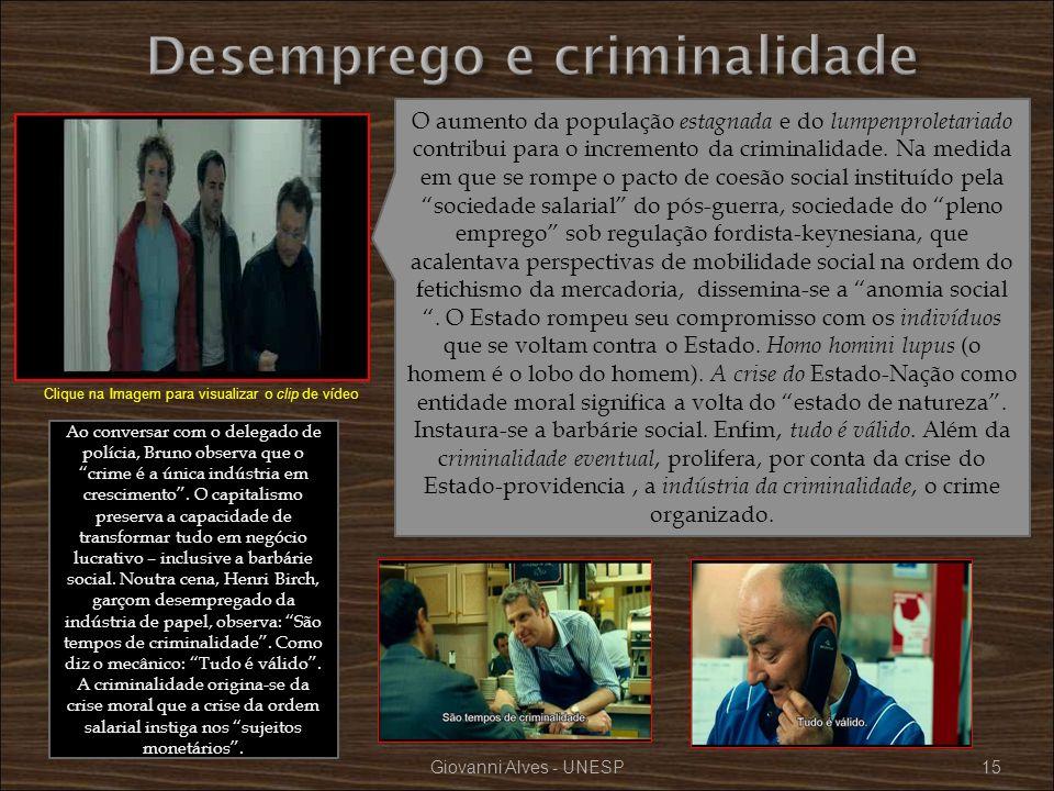 Desemprego e criminalidade
