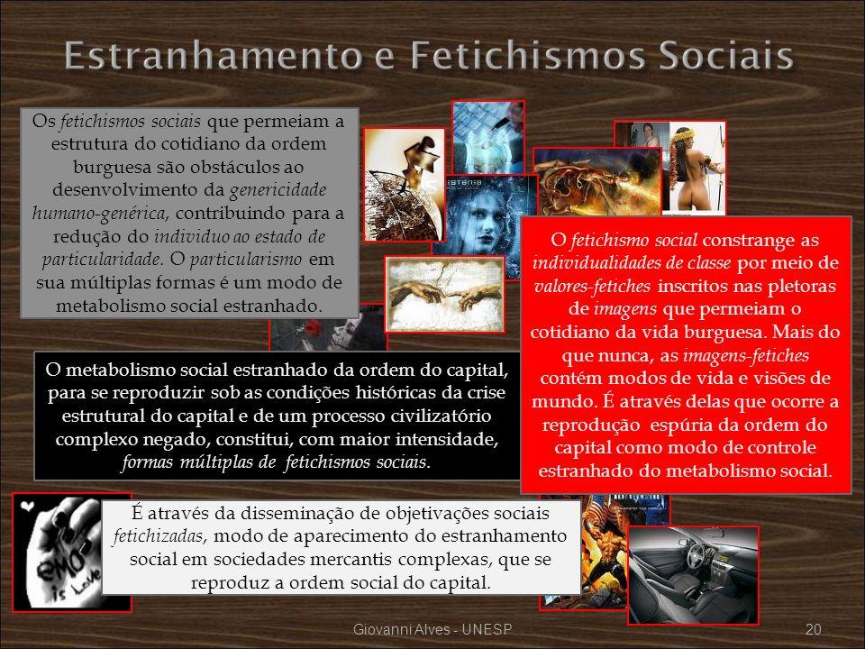 Estranhamento e Fetichismos Sociais