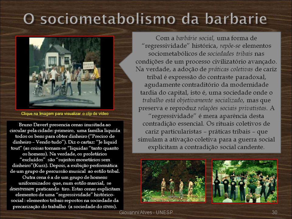 O sociometabolismo da barbarie