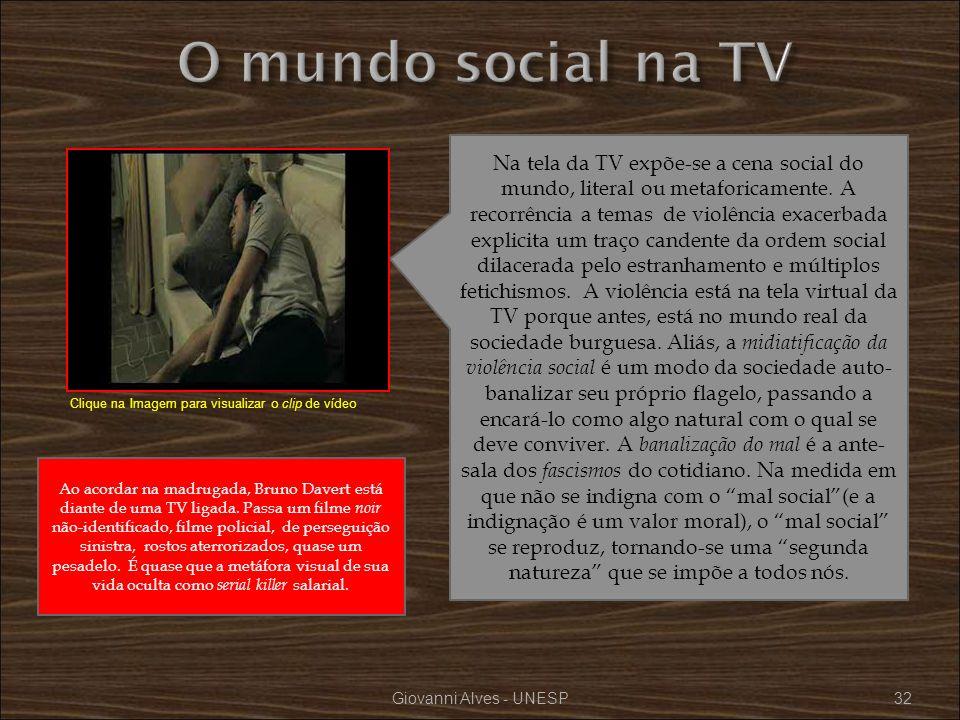 O mundo social na TV