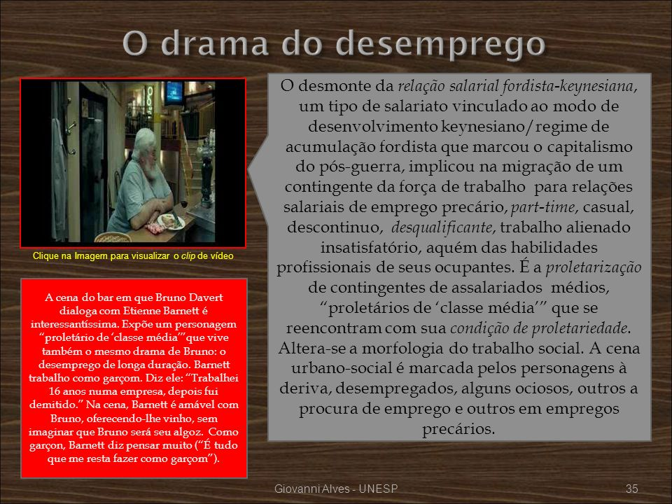 O drama do desemprego