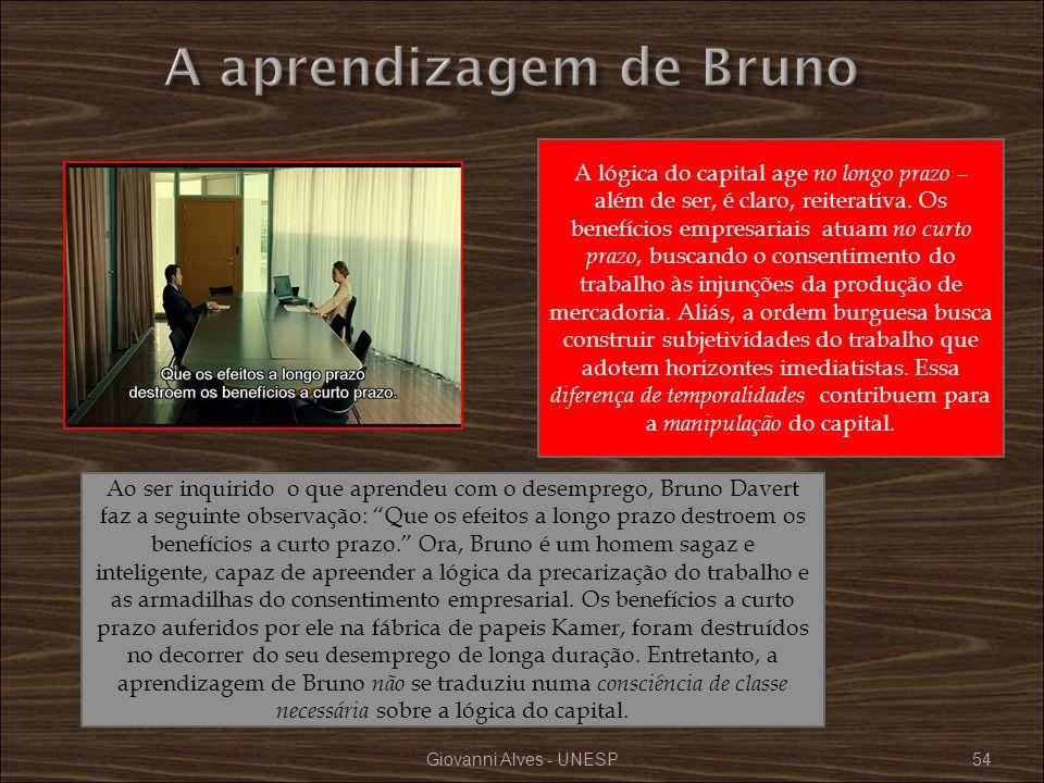 A aprendizagem de Bruno