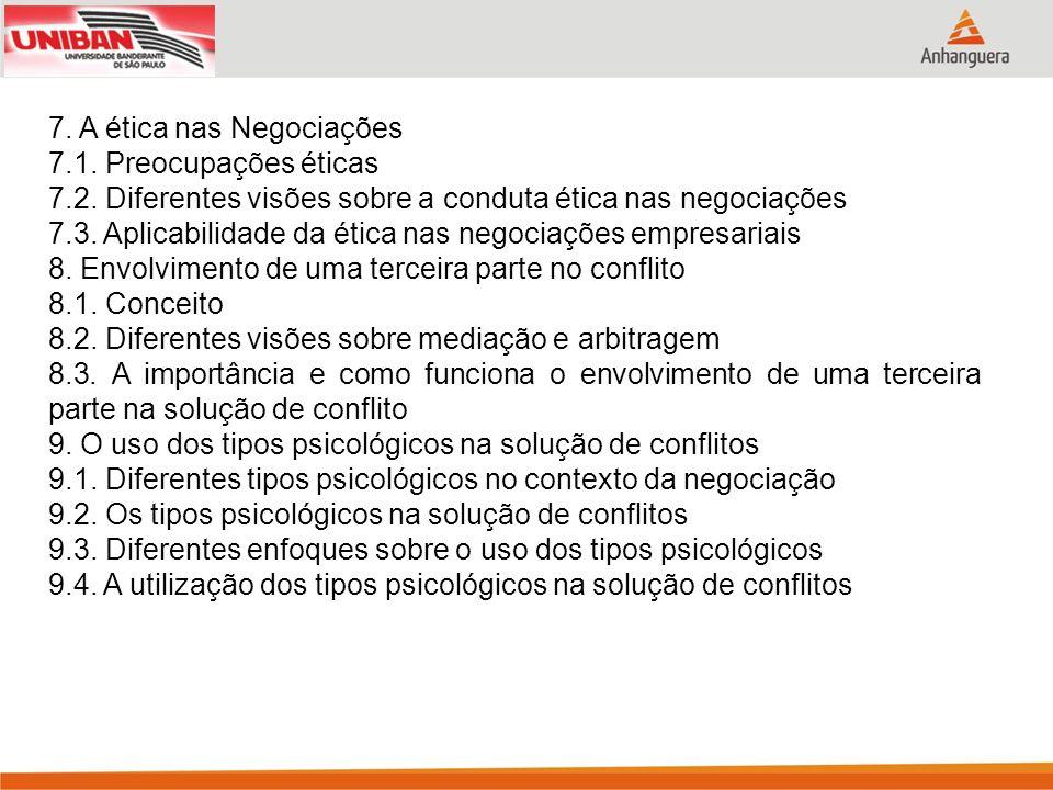 7. A ética nas Negociações