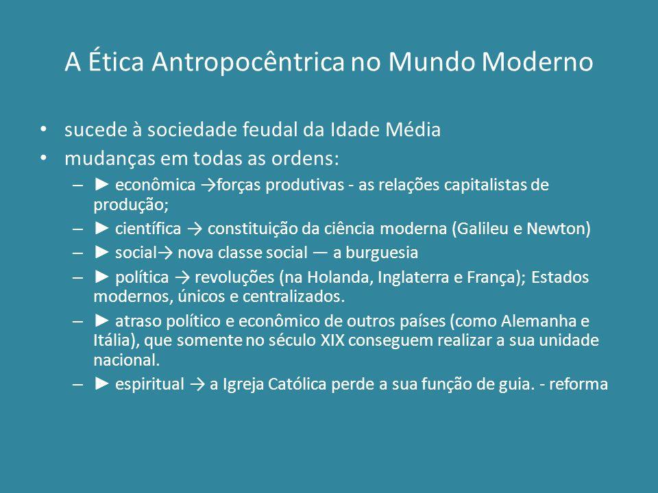 A Ética Antropocêntrica no Mundo Moderno