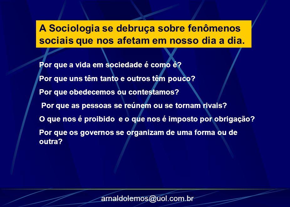 A Sociologia se debruça sobre fenômenos sociais que nos afetam em nosso dia a dia.