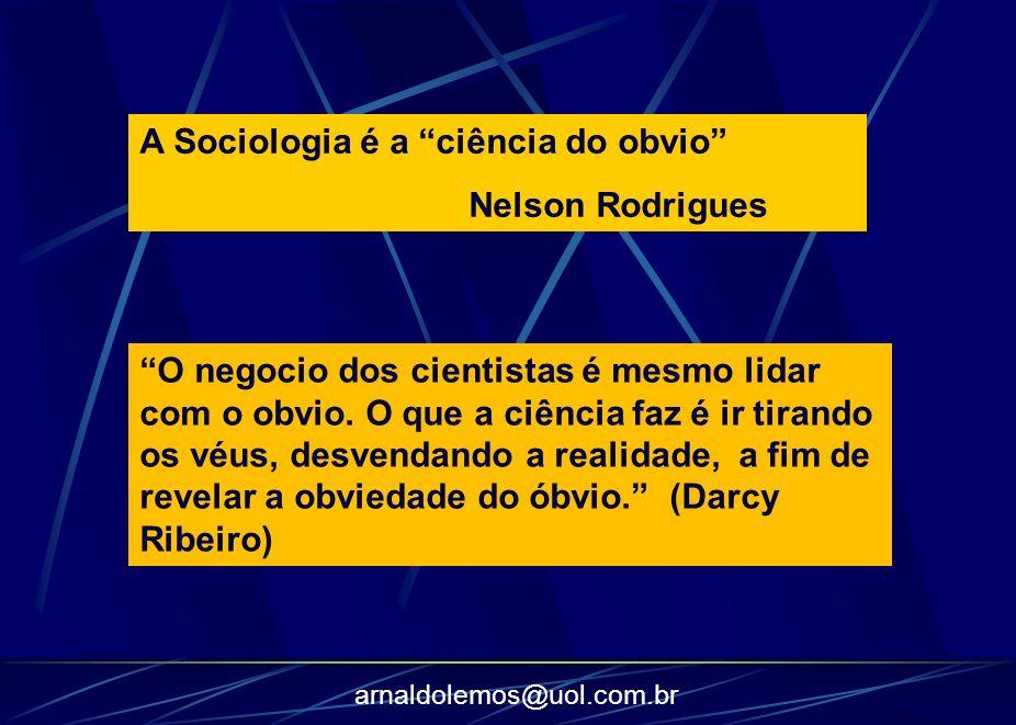 A Sociologia é a ciência do obvio