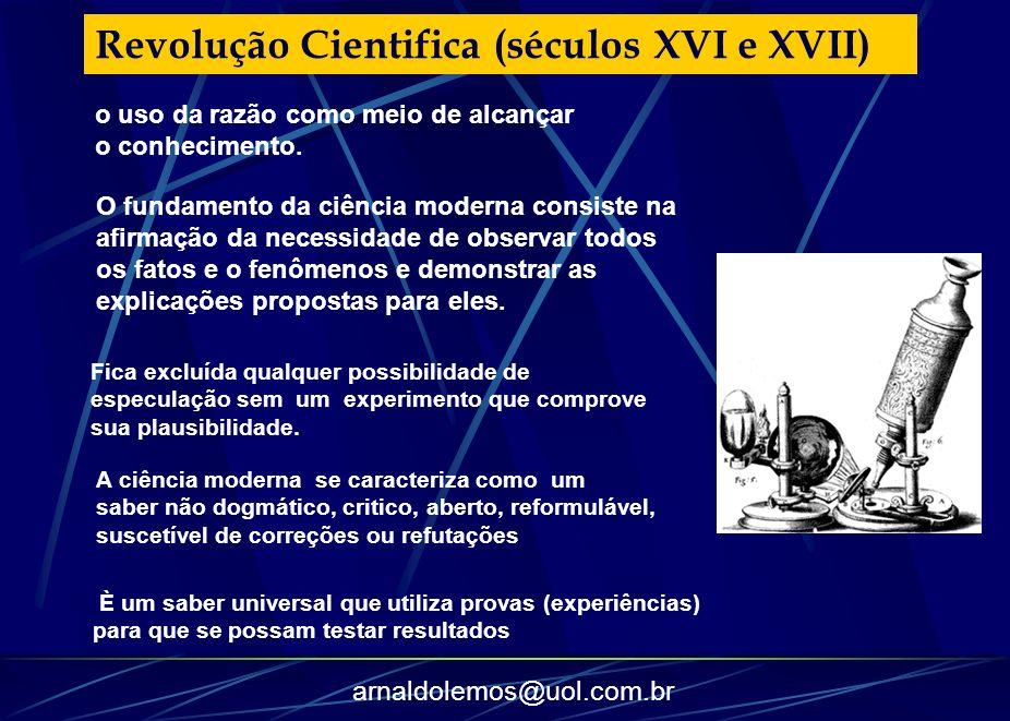 Revolução Cientifica (séculos XVI e XVII)