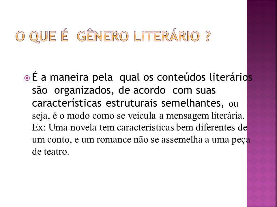 O que é gênero literário