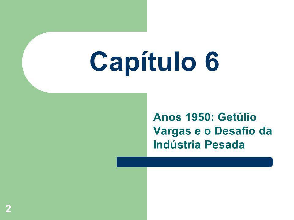 Anos 1950: Getúlio Vargas e o Desafio da Indústria Pesada