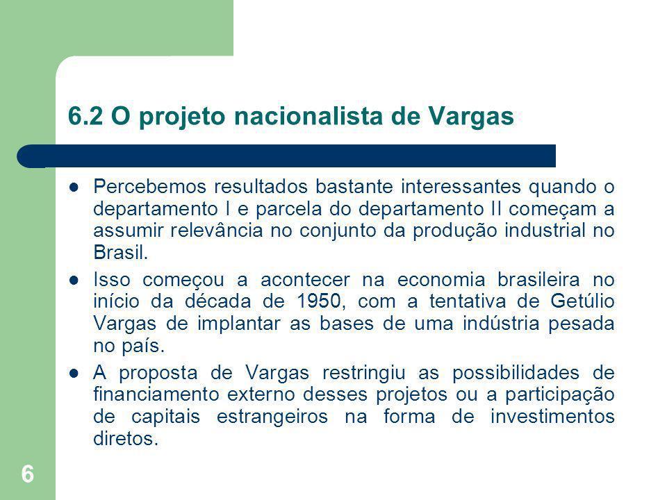 6.2 O projeto nacionalista de Vargas