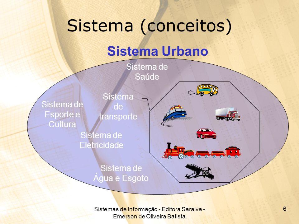 Sistema (conceitos) Sistema Urbano Sistema de Saúde