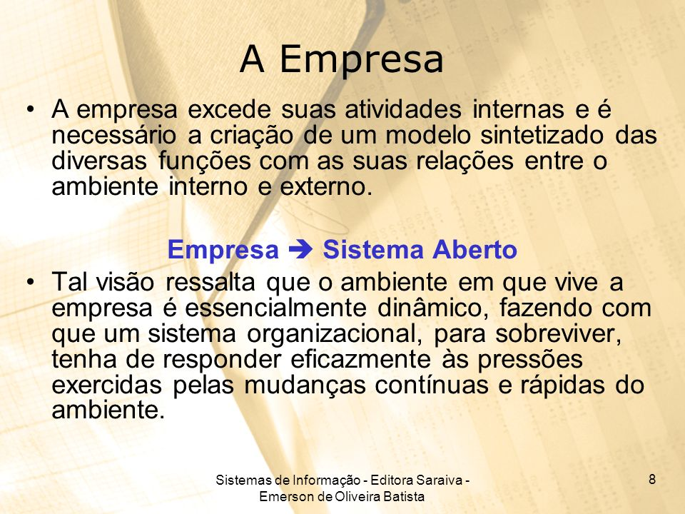 Empresa  Sistema Aberto