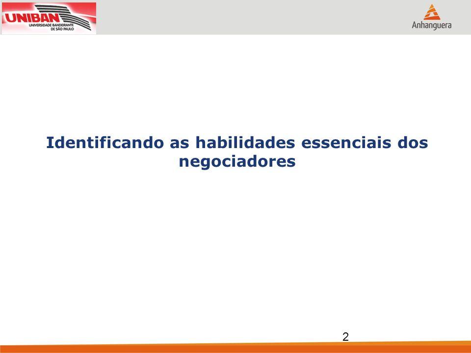 Identificando as habilidades essenciais dos negociadores