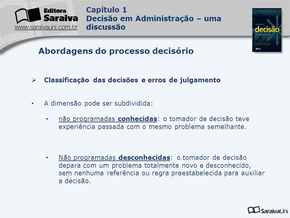 Abordagens do processo decisório