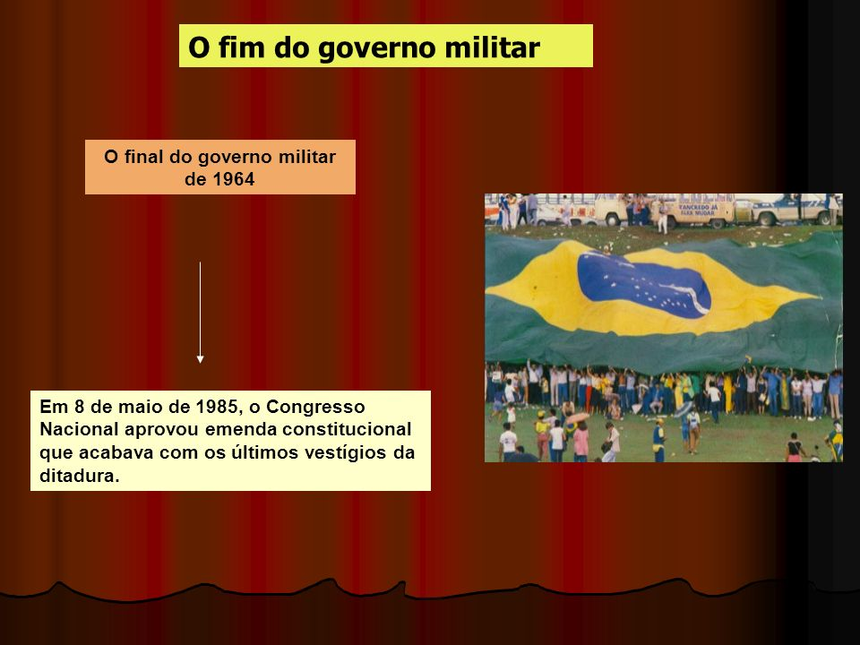 O final do governo militar de 1964