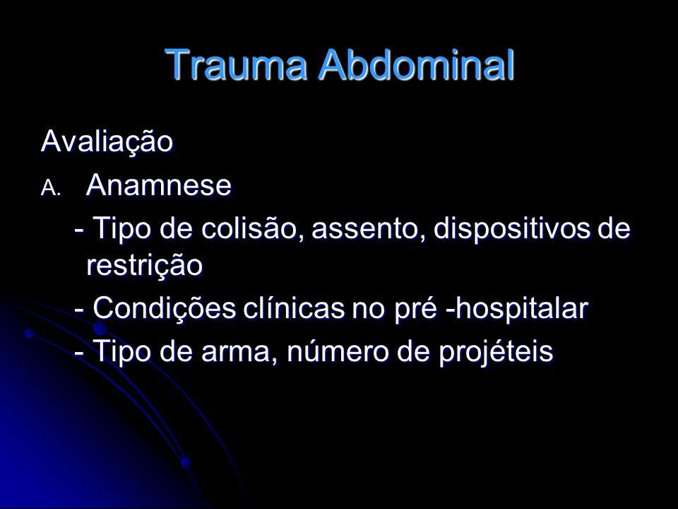 Trauma Abdominal Avaliação Anamnese