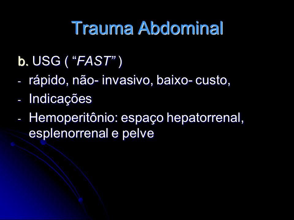 Trauma Abdominal b. USG ( FAST )