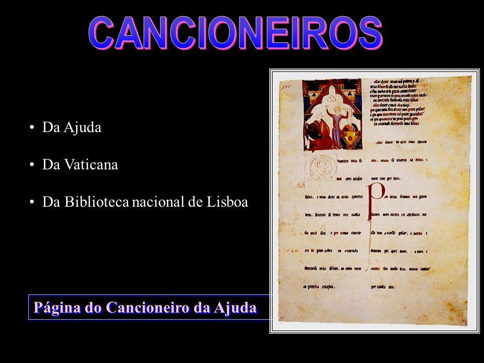 CANCIONEIROS Página do Cancioneiro da Ajuda Da Ajuda Da Vaticana