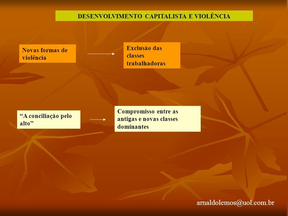 DESENVOLVIMENTO CAPITALISTA E VIOLÊNCIA