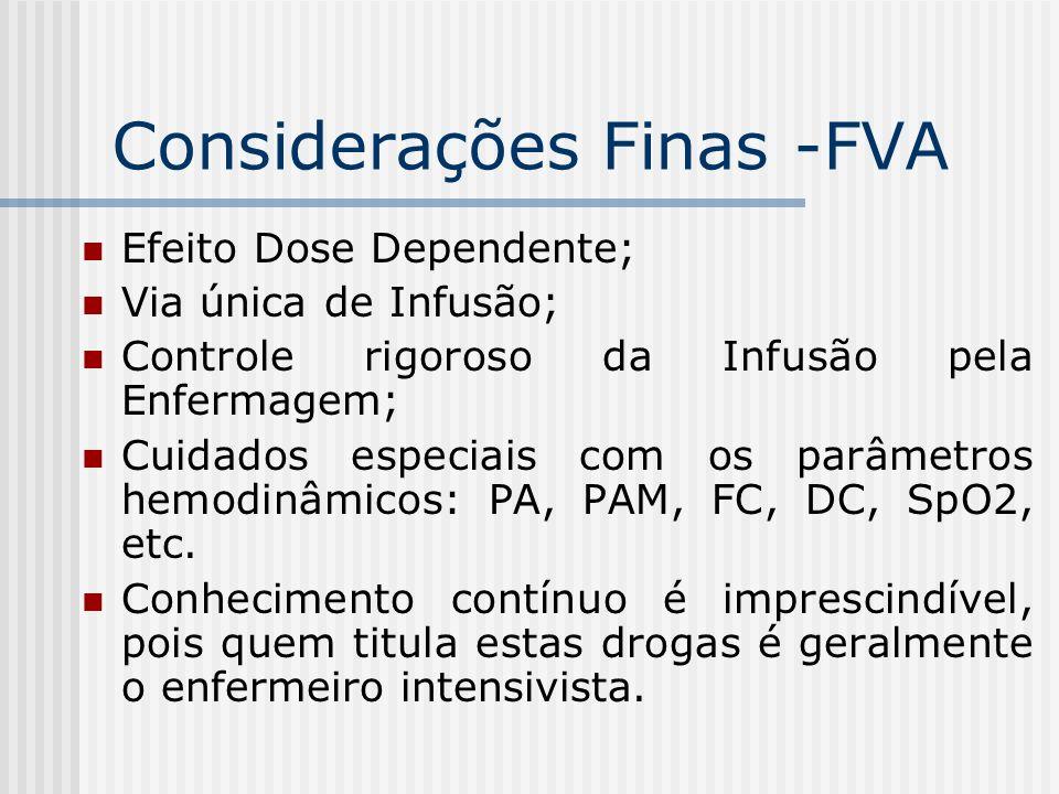 Considerações Finas -FVA