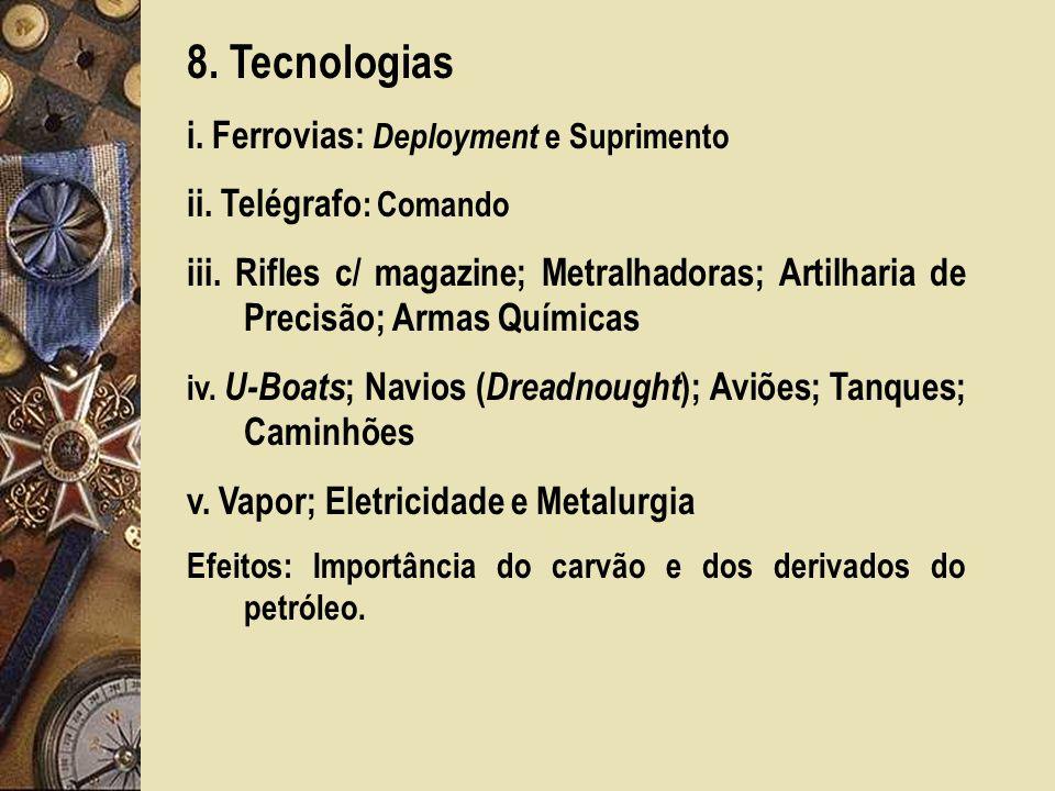 8. Tecnologias i. Ferrovias: Deployment e Suprimento