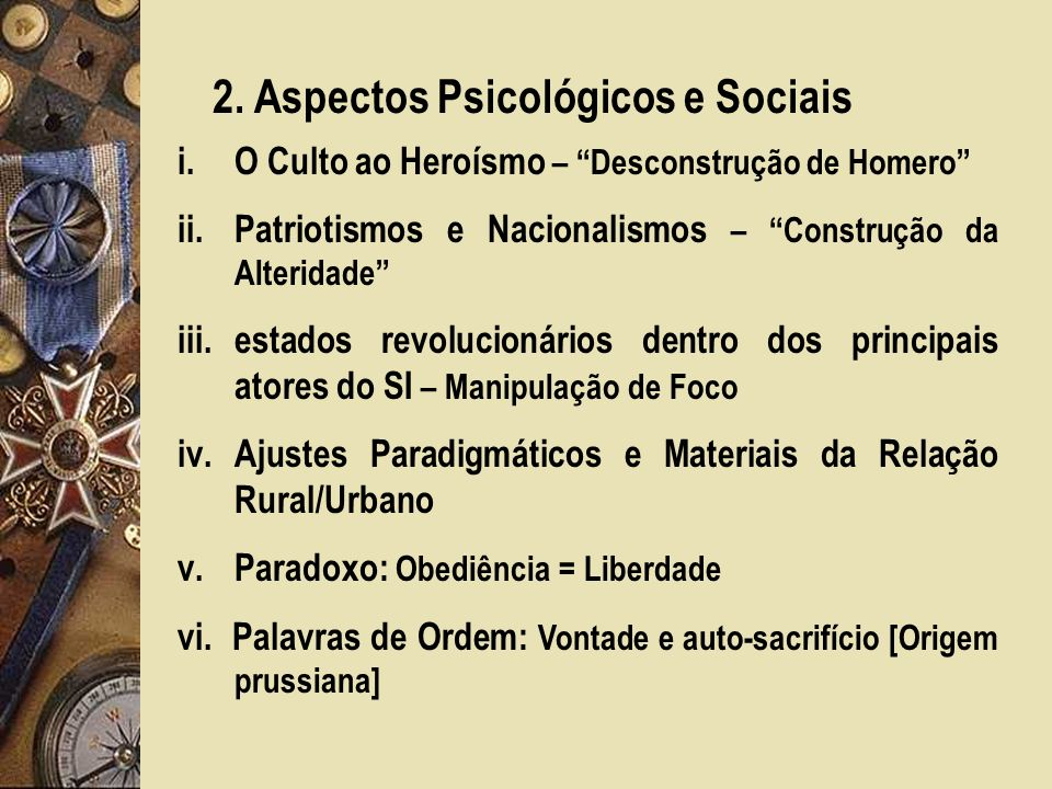2. Aspectos Psicológicos e Sociais
