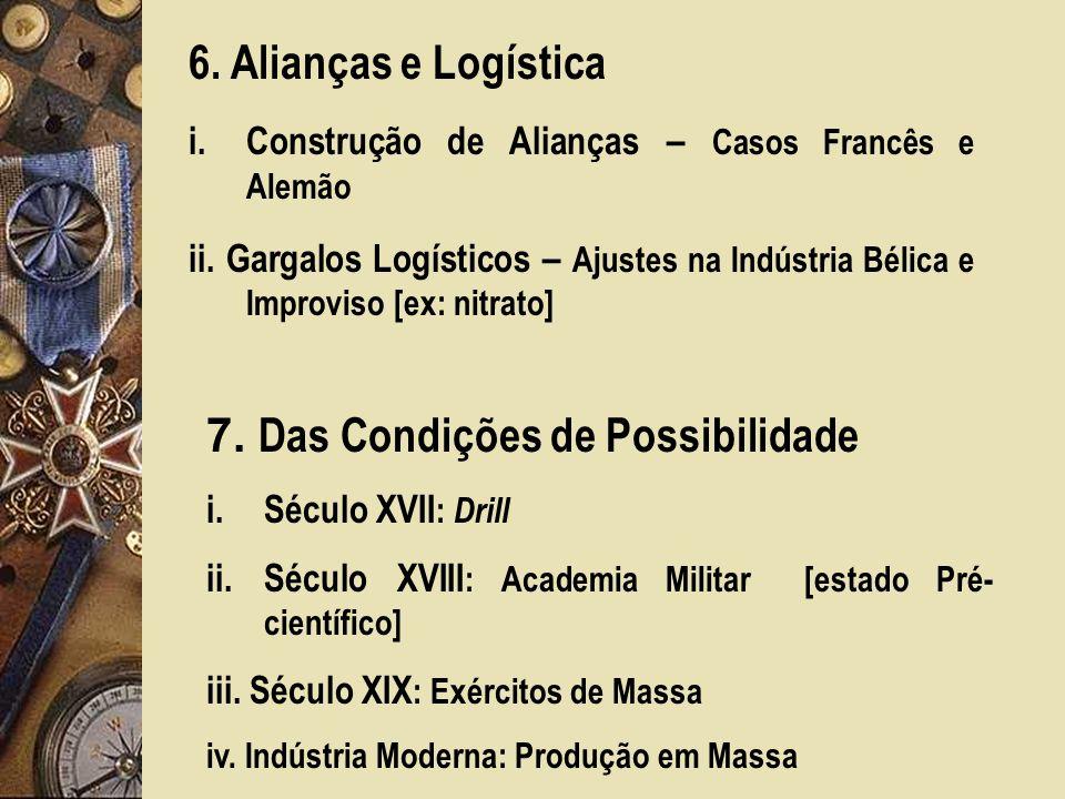 7. Das Condições de Possibilidade