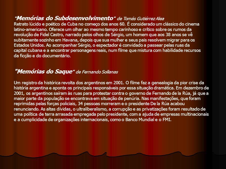 Memórias do Subdesenvolvimento de Tomás Gutiérrez Alea