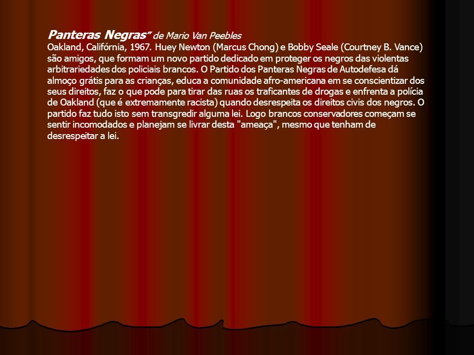 Panteras Negras de Mario Van Peebles