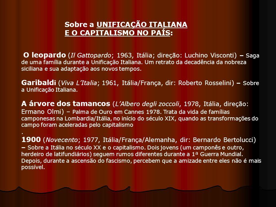 Sobre a UNIFICAÇÃO ITALIANA E O CAPITALISMO NO PAÍS: